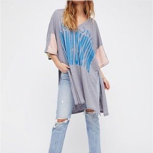 Free people city slicker oversized t